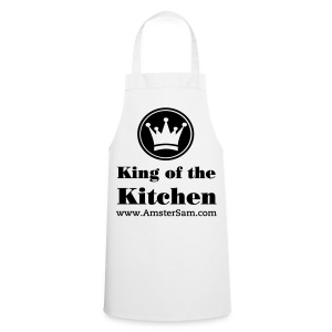 Apron 'King of the Kitchen' White/Black - Cooking Apron