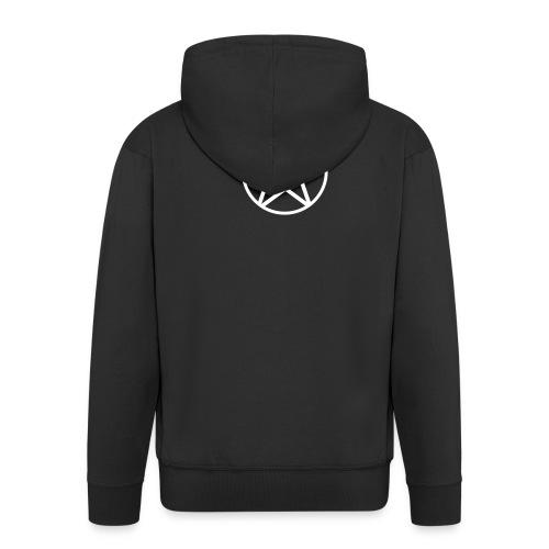 Bluza Pentagram - Rozpinana bluza męska z kapturem Premium