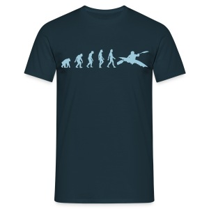 Navy Kayaking Evolution 1 (1c) Men's T-Shirts - Men's T-Shirt