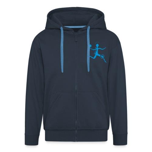 Kapuzenpulli in blau - Männer Premium Kapuzenjacke