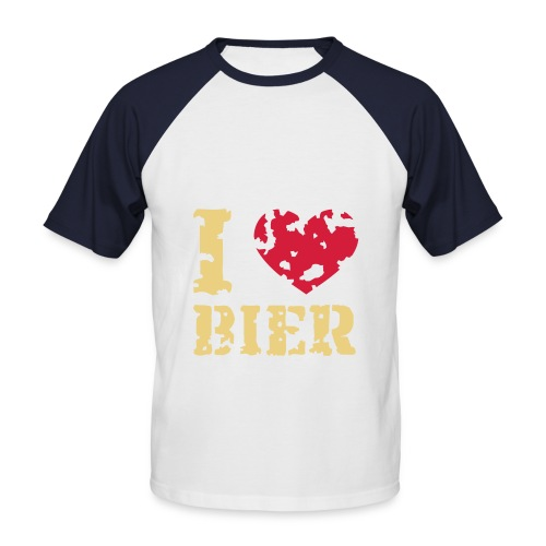 Männerhemd Smoky blue i love bier - Männer Baseball-T-Shirt