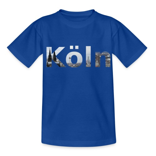 Kinder-Shirt Köln mit Kölner Skyline - Teenager T-Shirt