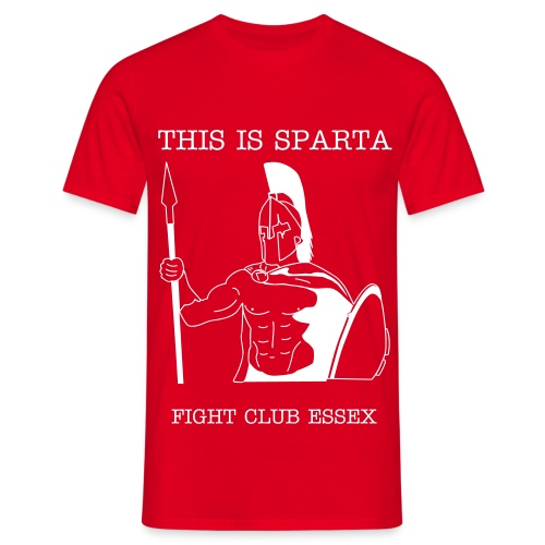 SPARTA TEE - RED - Men's T-Shirt