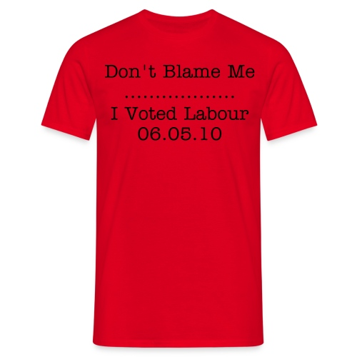 Don't Blame Me Mens T-Shirt - Red - Men's T-Shirt