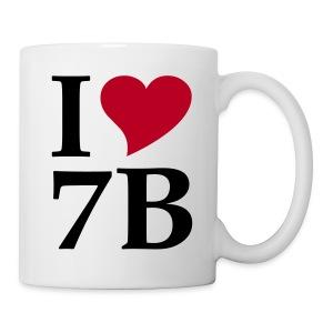 Kaffeepott I love 7B Siebenbürgen, Transylvania, Rumänien - Tasse