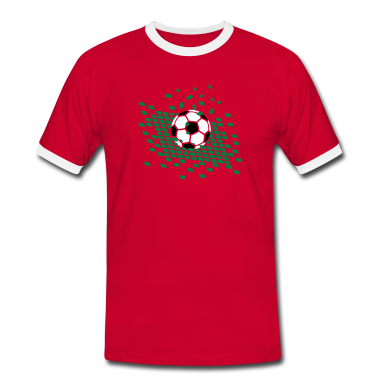 Red/white Football on football field Men's T-Shirts