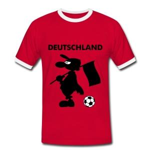 Deutschland Fanshirt Fußball - Männer Kontrast-T-Shirt