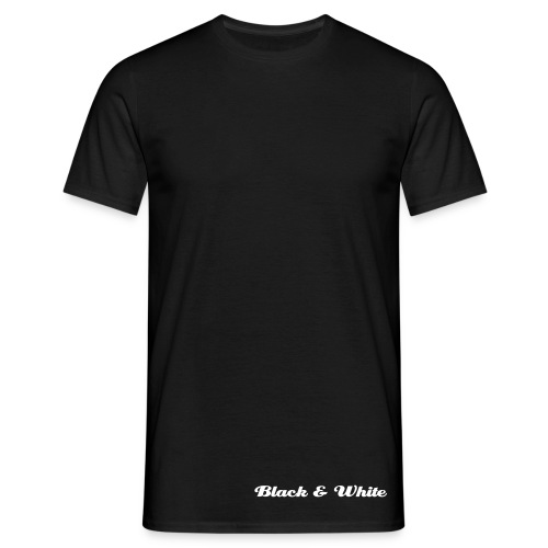 T-shirt Black & White - T-shirt Homme