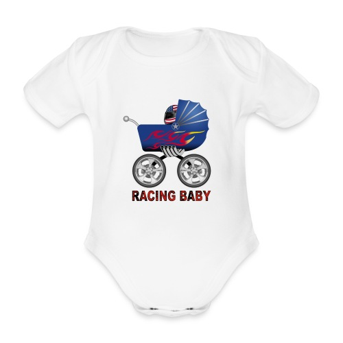 racing baby body - Organic Short-sleeved Baby Bodysuit