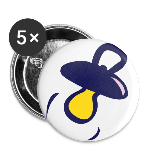 acroche tétine  - Lot de 5 petits badges (25 mm)