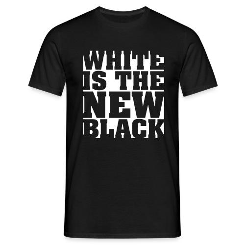 Men: White Is The New Black t-shirt - Mannen T-shirt