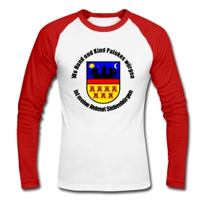 Langarm-Shirt Wo Hund und Kind Palukes würgen... - Männer Baseballshirt langarm