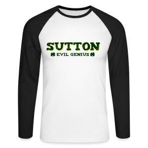 Sutton - Evil Genius - Men's Long Sleeve Baseball T-Shirt