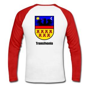 Langarm-Shirt Siebenbürgen-Wappen Transilvania  Erdely - Ardeal - Transilvania - Romania - Rumänien - Männer Baseballshirt langarm