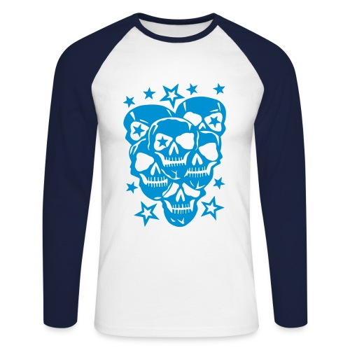skull style - T-shirt baseball manches longues Homme