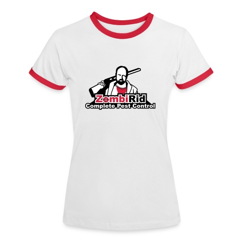 Zombi-Rid Ladies T-shirt - Women's Ringer T-Shirt