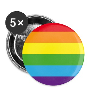 Big Round Rainbow - 5 Pack - Buttons large 56 mm