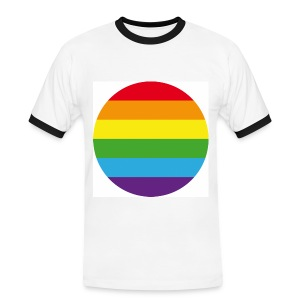 Big Round Rainbow - Men's Ringer Shirt