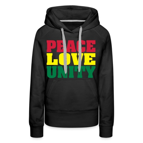 Women: Peace Love Unity tricolor sweater - Women's Premium Hoodie
