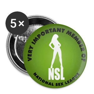 National Sex Leauge Badges (5) - Buttons small 25 mm
