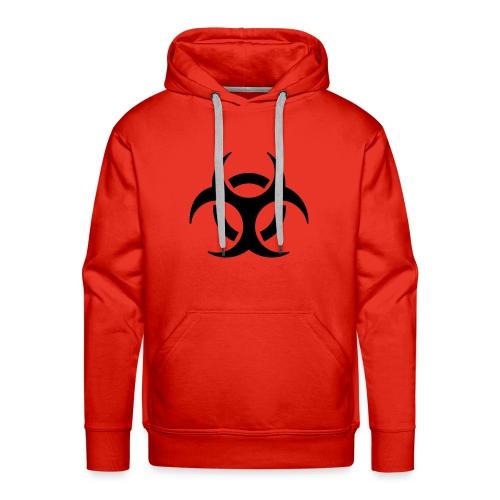 Red Biohazard Hoodie - Men's Premium Hoodie