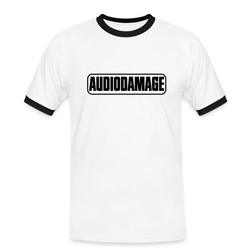 AD SUPPORTER T-SHIRT LOGO BLACK - Men's Ringer Shirt