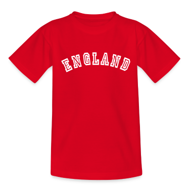 Red England Kids' Shirts