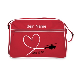 love to fly - Retro Tasche