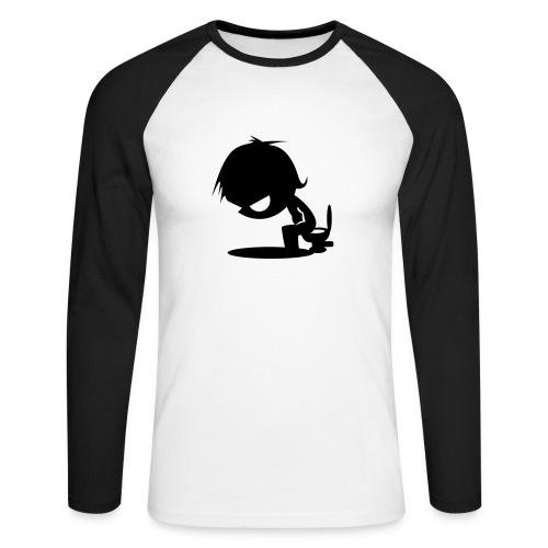 Shit Happens - Men's Long Sleeve Baseball T-Shirt