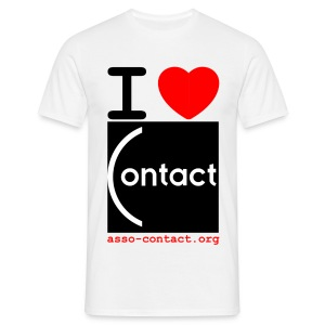 I love Contact - T-shirt Homme