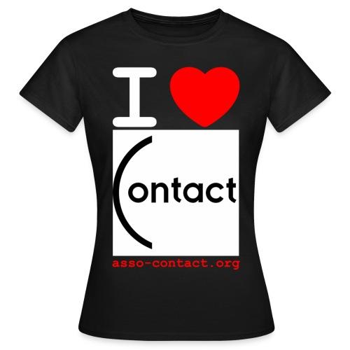 I love Contact - T-shirt Femme