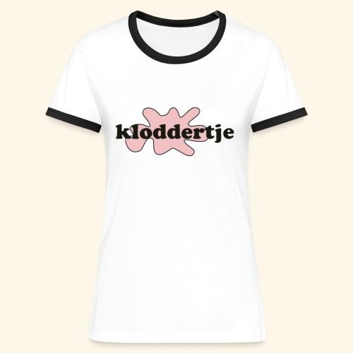 Kloddertje Roze - Vrouwen contrastshirt