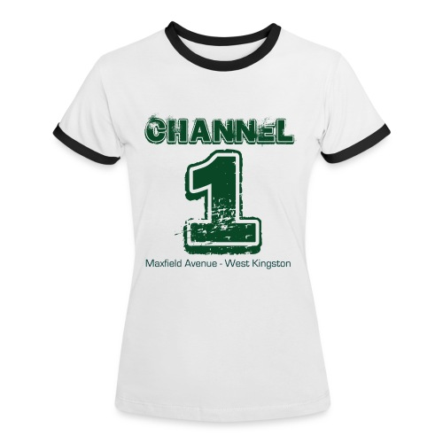Channel 1 - Maxfield Ave - Women's Ringer T-Shirt