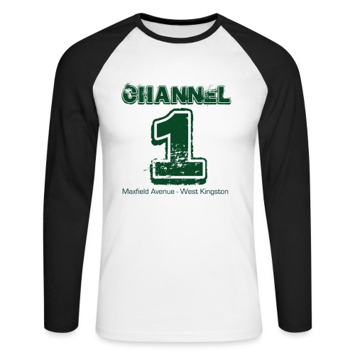 Channel 1 - Maxfield Ave - Men's Long Sleeve Baseball T-Shirt