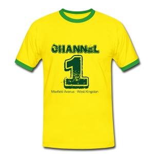 Channel 1 - Maxfield Ave - Men's Ringer Shirt