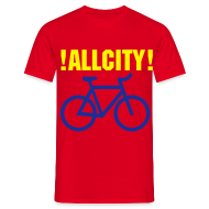 T-Shirts ~ Men's T-Shirt ~ ALLCITY RIDE NYC X LDN 2 Sided