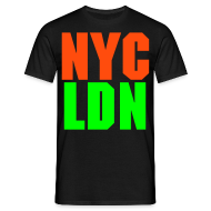 T-Shirts ~ Men's T-Shirt ~ ALLCITY NYC:LDN Knuckles 2 Sided