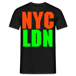 ALLCITY NYC:LDN Knuckles 2 Sided - Men's T-Shirt