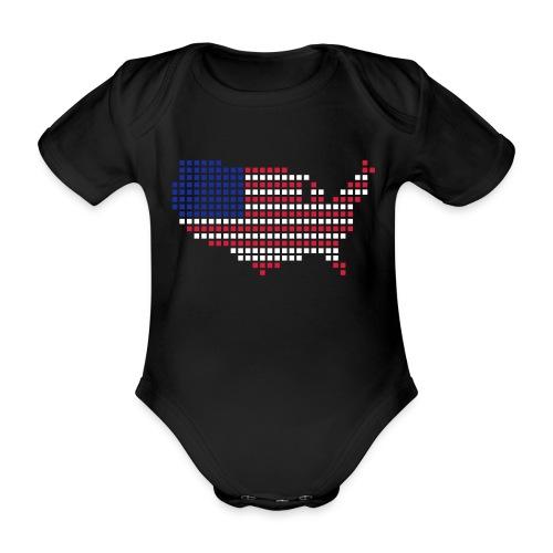 USA rompertje - Baby bio-rompertje met korte mouwen