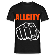 T-Shirts ~ Men's T-Shirt ~ ALLCITY Black Punch