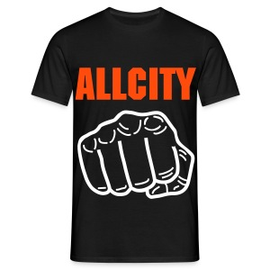 ALLCITY Black Punch - Men's T-Shirt