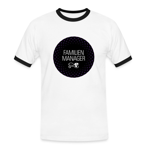 Black & White Shirt Familienmanager - Männer Kontrast-T-Shirt