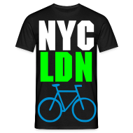 T-Shirts ~ Men's T-Shirt ~ ALLCITY Black NYC:LDN RIDE Edition 2 Sided