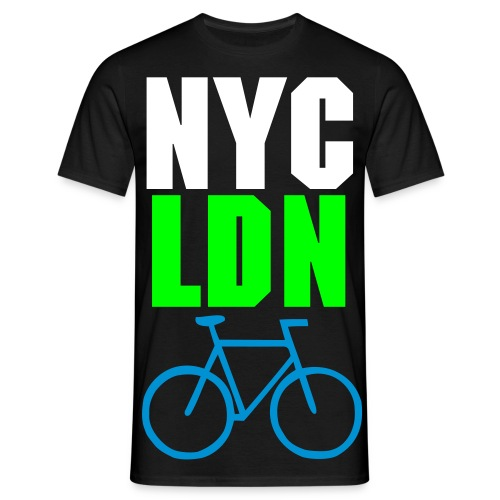 ALLCITY Black NYC:LDN RIDE Edition 2 Sided - Men's T-Shirt