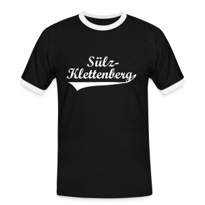Sülz-Klettenberg Trikotstyle Farbwahl (weißer Druck) - Männer Kontrast-T-Shirt