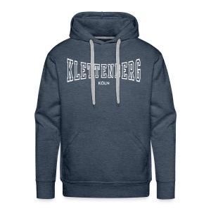 Klettenberg Outline Kapuzenshirt Farbwahl (weißer Druck) - Männer Premium Hoodie