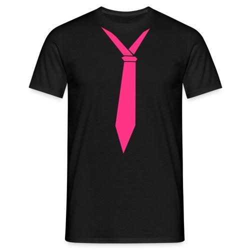 Pink Tie - Mannen T-shirt