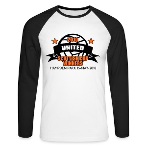 D United 2010 Scottish Cup - Men's Long Sleeve Baseball T-Shirt