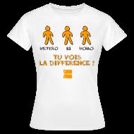Tee shirts ~ Tee shirt Femme ~ Hétéro, bi, homo : tu vois la différence ?