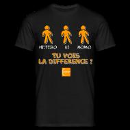 Tee shirts ~ Tee shirt Homme ~ Hétéro, bi, homo : tu vois la différence ?